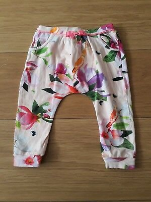 Ted Baker Designer Baby Girls Pink Harem Trousers  Patterned Aged 12-18 Mths
