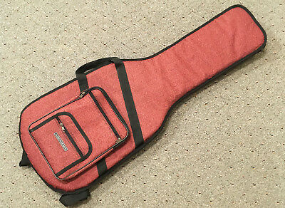 Musician's Friend Deluxe soft electric guitar case, padded gig bag, fits Fender!
