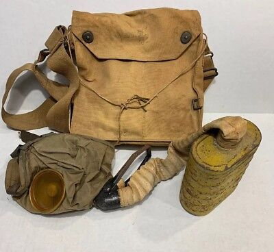 WW1 WWI US U.S. Training Gas Mask,Original,Doughboy,Combat,Army,Bag,Rare,Field