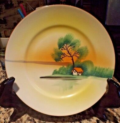 "Vintage Chikaramachi Hand Painted 7.25""  Plate - Made in Japan"
