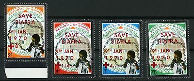 Biafra  (Nigeria) 1970 Mnh Set Second Anniv.of Independence,child With Overprint