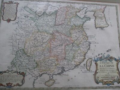 China Shanghai Peking Taiwan Asien Landkarte Empire de la Chine Bellin 1748 Map