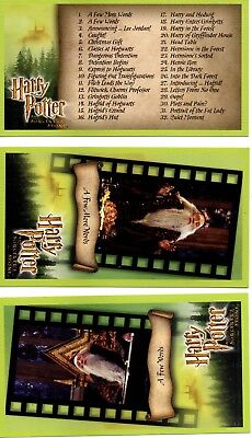 Harry Potter and the Sorceror's Stone trading cards. 1-80. Pack S1.  Full set