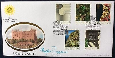 Benham 1995 National Trust, Powis Castle FDC Signed ANGELA RIPPON, TV, Top Gear