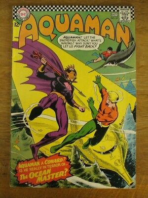 Aquaman  # 29 Sept - Oct 1966 Dc Comic  First Ocean Master Excellent Condition