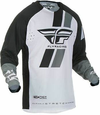FLY RACING Evolution DST MX Jersey BLACK WHITE SHIPS FREE
