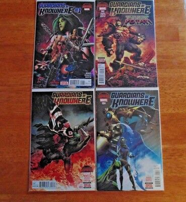 Marvel Comic Book Lot (4) Guardians of Knowhere Secret Wars Issues 1 - 4