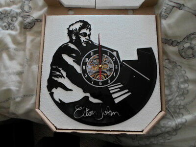 Elton John Die Cut Cclock Out Of Vinyle Boxed New Mint