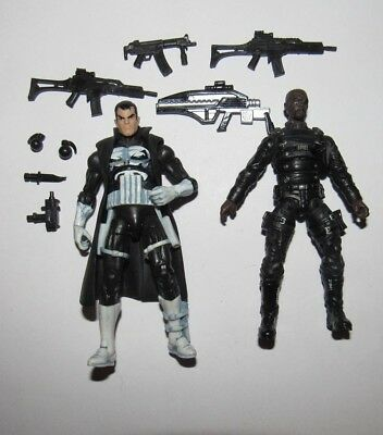 Marvel Universe 3.75 figure lot Punisher & Nick Fury + tons of weapons
