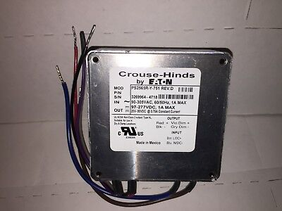 Eaton Crouse-Hinds PS2565-Y-751 REV. D LED Light Driver AC/DC Power Inverter