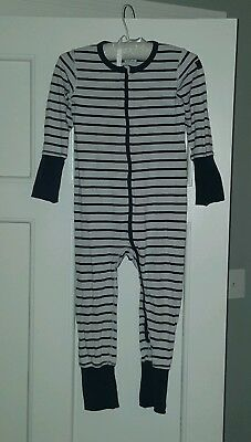 Polarn o Pyret Baby Sleepsuit/Babygrow Blue stripes.  1-2 yrs