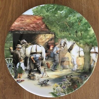 Royal Doulton Old Country Crafts Plate - 'The Blacksmith' by Susan Neale - 1990