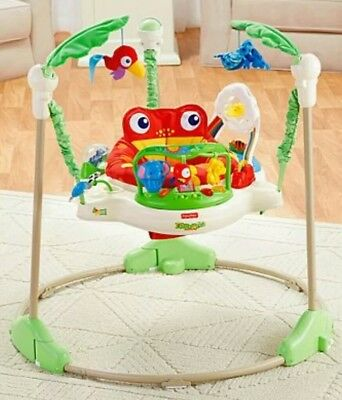 Fisher Price Rainforest Jumperoo / Baby Bouncer Play Gym With Original Box
