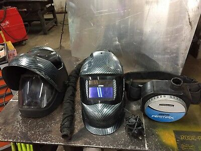 Jackson Airmax welding helmet pair air fed respirator grinding WH50 Kimberly