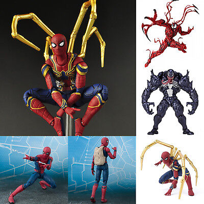 Marvel Spider Man Carnage Red Venom No. Revoltech Series PVC Action Figur Figure