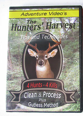 Deer Hunting Field Dressing Gutless Cleaning  Trappers Otter Beaver Lot Dvd Nip