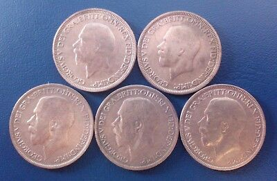 GB UK Half Penny 5 Coins 1918 1923 1928 1936 (FREE S&H for every extra lot)