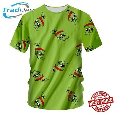 New 3D T-Shirt Funny Frog Full Print Green All Size 5XL Animal Cool Toad Casual