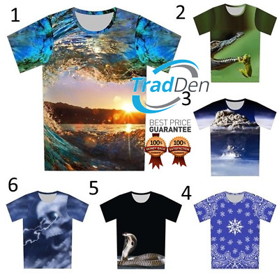 New 3D T-Shirt Animal Psychedelic Trip Galaxy Nature Full Print Men Women Casual