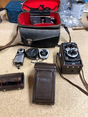 Vintage Rare Yashica 635 TLR Twin Lens Reflex Camera 35mm w/ Case & Boxes TK-62