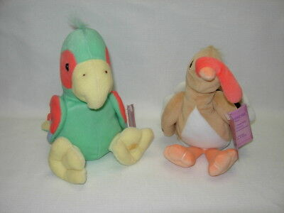 Precious Moments Tender Tails Lot of 2 Limited Ed. PARROT & TURKEY Beanbag plush