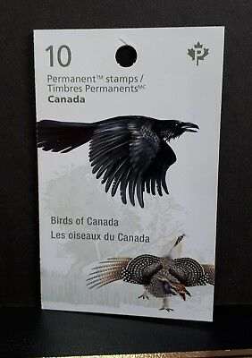 Canada MNH 2016 Booklet #651 Birds: puffin, horned owl, raven, ptarmigan, grouse