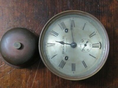 "SETH THOMAS ANTIQUE SHIPS BELL CLOCK 6""  C1884 Unrestored original"