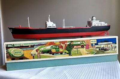 Vintage 1966 HESS VOYAGER TANKER SHIP Truck With MINT BOX! HOLY GRAIL!