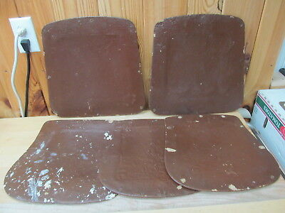 """5 Antique Chair Seats Faux Leather 13"""" and Others – Coated Cardboard"""