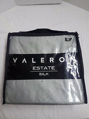 "Valeron Estate 100% Silk 1 Rod Pocket Panel Curtain Grey 50""W x 84""L"