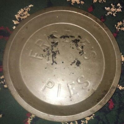 """Vintage FRISBIE's Pie Plate w 6 Cooling Holes Frisbee Tin Pie Pan 9"""" A"""