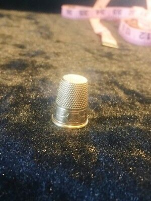 14Kt Gold Inscribed Sewing Thimble. 5 Grams.
