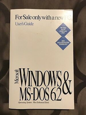 Microsoft windows & MS-DOS 6.2 User's Guide in very good condition