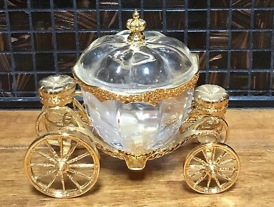 Cinderella's Magic Coach By Franklin Mint Lead Crystal And 24k Gold
