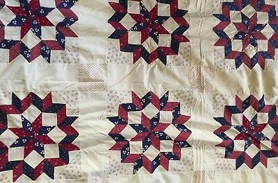 ATQ  quilt topper.  All hand sewn, excellent condition All cotton 1920-30's