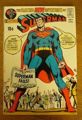 The Amazing New Adventures Of Superman # 240 June July 1971 Dc Comic Book