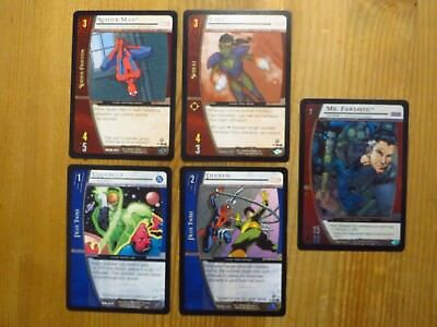 5x Marvel VS System Upper Deck Entertainment Trading Card Game 2004 English