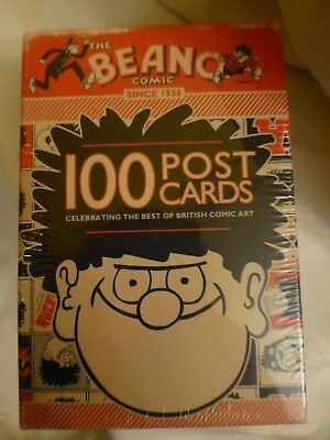 BEANO COMIC 100 Postcards SET / COLLECTION & STORAGE BOX. Brand New & Sealed