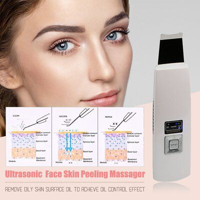 Ultrasonic Skin Scrubber Facial Peeling Blackhead Massager Cleaner RechargeabAI