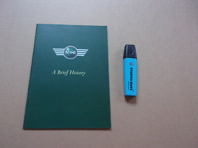 Brochure publicitaire Mini, A Brief History