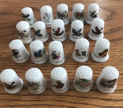 20 Vintage  Bird And Butterfly Thimbles A-13