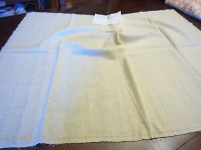Vintage Piece of Hand Woven Wool Fabric Cream or Natural Color