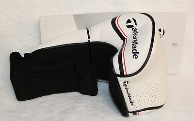 NEW TaylorMade Universal White/Red/Black Driver Headcover Golf Head Cover