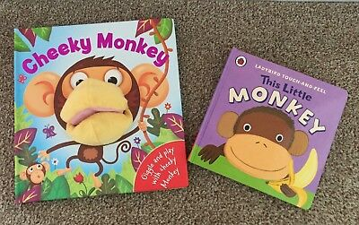 Bundle of 2 Board Books | Baby, Toddler | 1 book with hand puppet