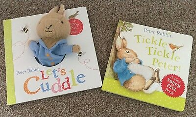 Bundle of 2 Beatrix Potter Peter Rabbit Board Books | 1 book with hand puppet