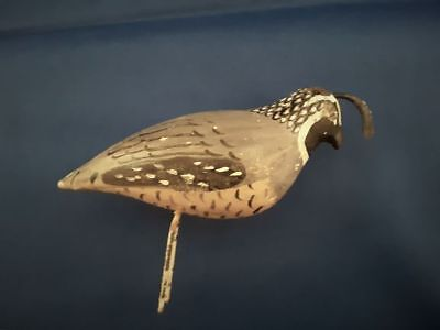 Vintage Carved Wood QUAIL (1) Hand Painted Over 30 years Old!