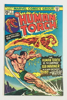Marvel Bronze Age Human Torch #7 – 7.5 VF- Human Torch vs Sub-Mariner!!!