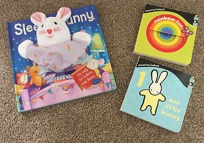 Bundle of 3 Board Books | Colours, number | 1 with hand puppet