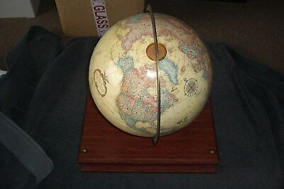 Vintage 12 inch Replogle Globe World Classic Series with Relief & Base.