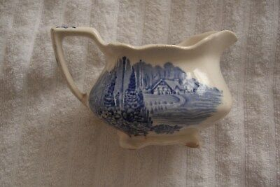 "Myott son & Co  ""Homeland""  Milk Jug Blue & White"